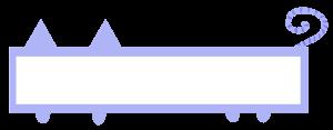 ネコ型フレームのイラスト