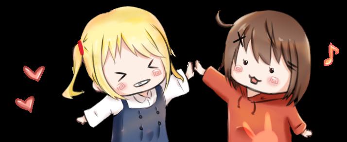【挿絵】ハイタッチ