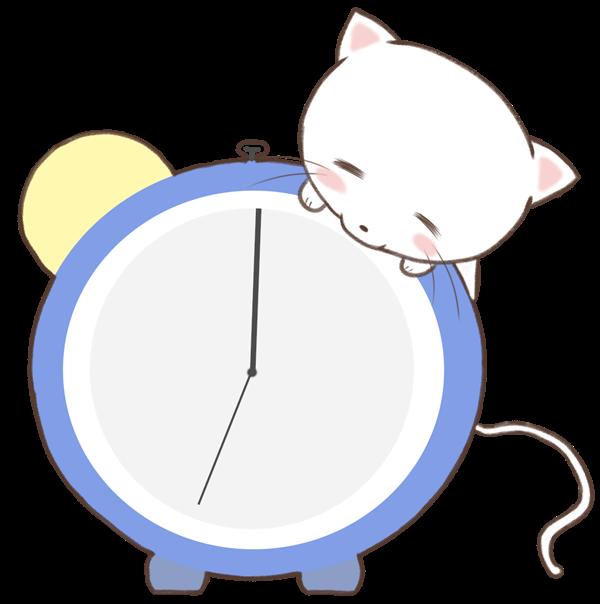 【挿絵】ねこと時計
