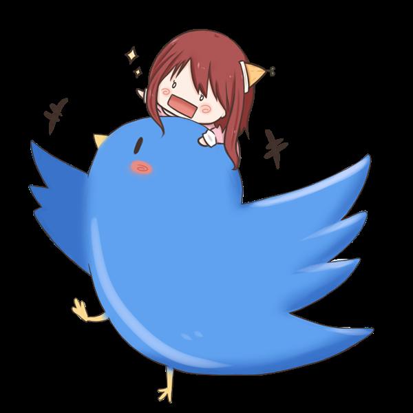 【挿絵】意気投合した小人と青い鳥