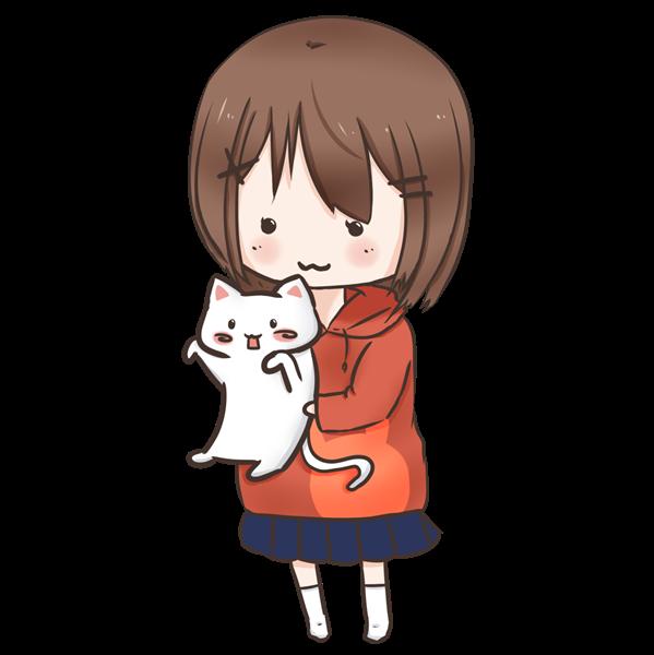 【挿絵】猫拾った女の子