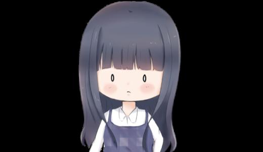 【アイコン】黒髪の女の子(あっさり)