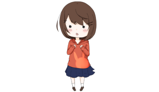 【立ち絵】茶髪の女の子(あっさり)