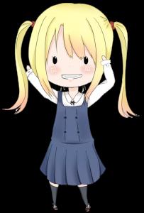金髪ツインテールの女の子の立ち絵