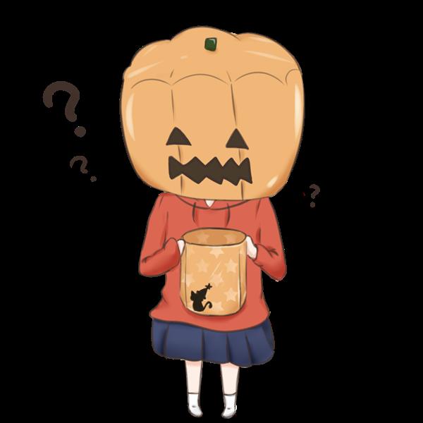 【挿絵】かぼちゃ少女