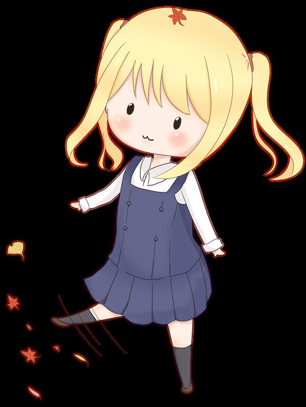 【挿絵】女の子と紅葉