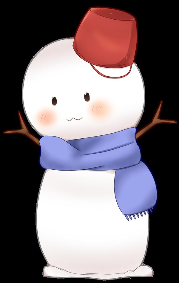 【挿絵】雪だるま