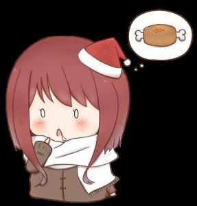 食いしん坊な女の子のイラスト