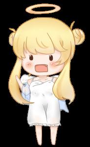 金髪天使のイラスト