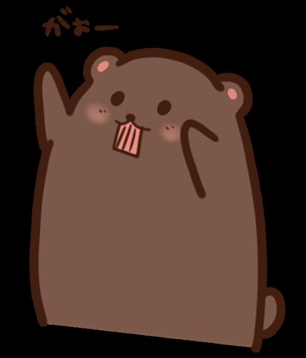 【挿絵】両手をあげるクマ