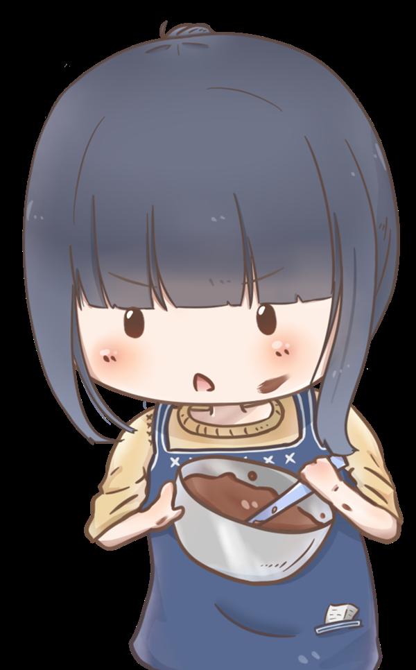 【挿絵】慣れないチョコレート作り