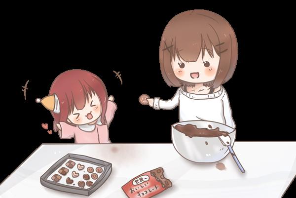 【挿絵】つまみ食いコンビ
