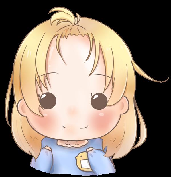 【アイコン】前髪を上げた女の子(あっさり)