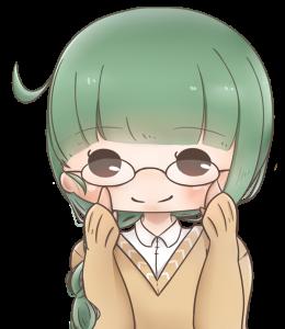 笑顔のメガネ少女のアイコン