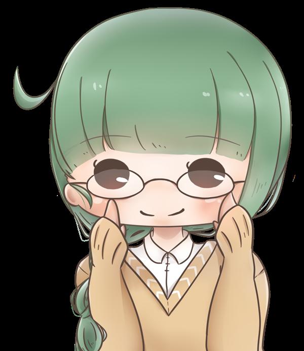 【アイコン】メガネの女の子(あっさり)