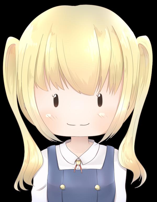 【アイコン】ツインテールの女の子(あっさり)