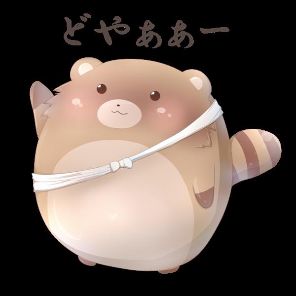【挿絵】パンフレットたぬき