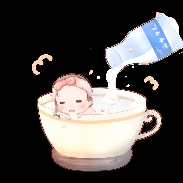 【挿絵】牛乳風呂