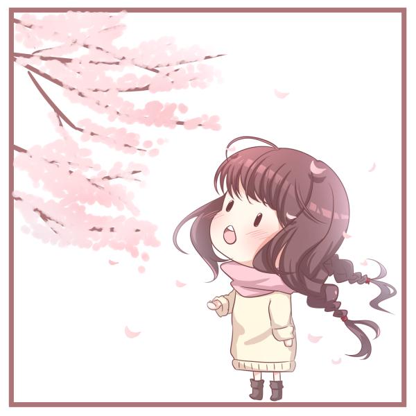 【挿絵】女の子と桜