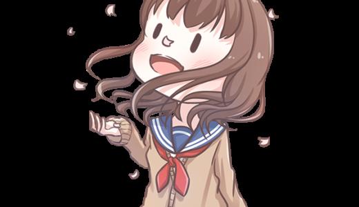 【挿絵】桜と制服